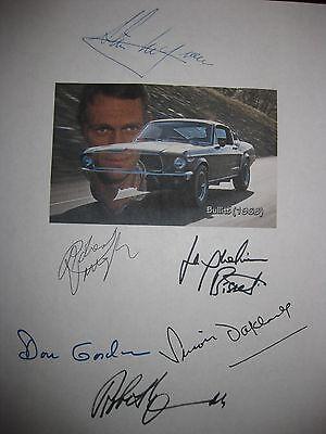 Bullitt Signed Film Script X6 Steve McQueen Robert Vaughn Duvall Bisset reprint