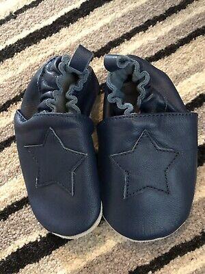 Joe fresh Boys Size M Pre Walker Navy Leather Shoes