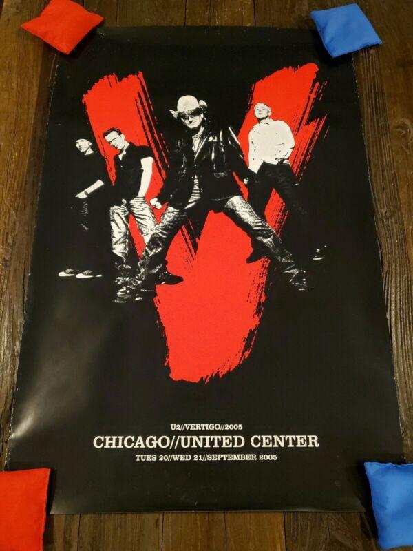 U2 2005 Vertigo Soldier Field Chicago Original Concert Poster Print! 24x36