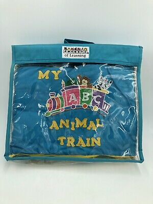 Take Along POCKETS OF LEARNING My ABC Animal Train Soft Book Toddlers Baby Bible Alphabet Train