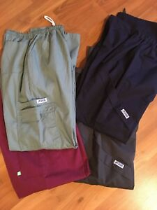 4 pair nursing scrub pants - size Small