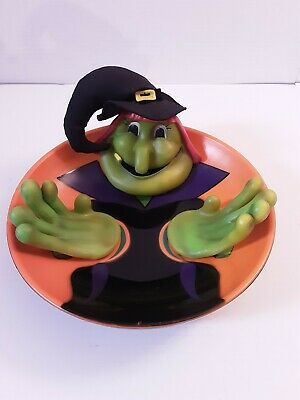 Gemmy Halloween Talking Animated Witch Candy Bowl