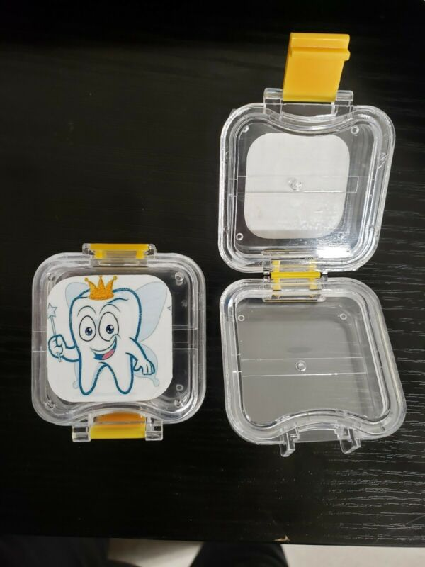 "(2) Tooth Fairy Box suspension Keepsake hinged acrylic 1.3"" New boy girl pillow"
