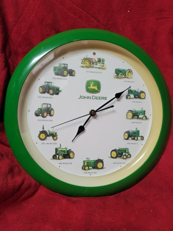John Deere Tractor Engine Sounds Wall Clock 1916 Waterloo Boy To 2002 9220 Works