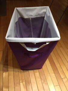 Purple laundry hamper