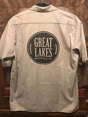 GREAT LAKES BREWING Cleveland ~ Mens XL ~ Christmas Ale Beer Delivery Work Shirt