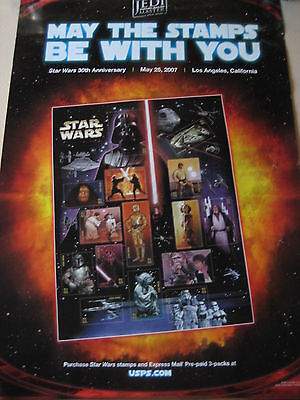 The Star Wars May The Stamps Be With You 30Th Anniversary 2007 Movie Poster