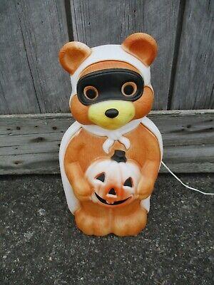 """23"""" Teddy Bear Pumpkin JOL Halloween Blow Mold Light Vintage Empire 1995"""