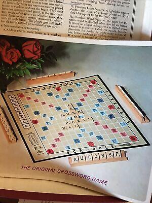 Scrabble 1973 Vintage Game All Original Paperwork Family Fun Mental Stimulus
