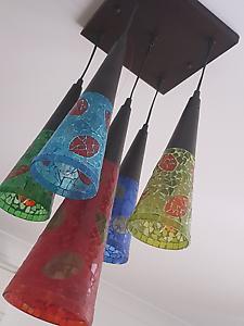 Glass pendant blue green yellow red moroccan  wynnum designer Lytton Brisbane South East Preview