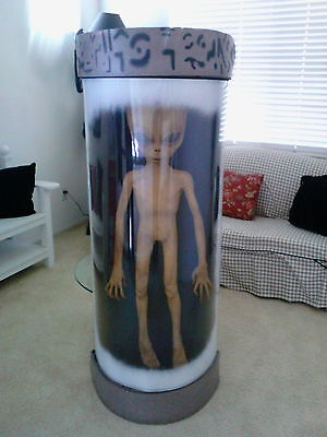 Vintage X-Files Alien Screen Used Movie Prop Life Size with Chamber Pod