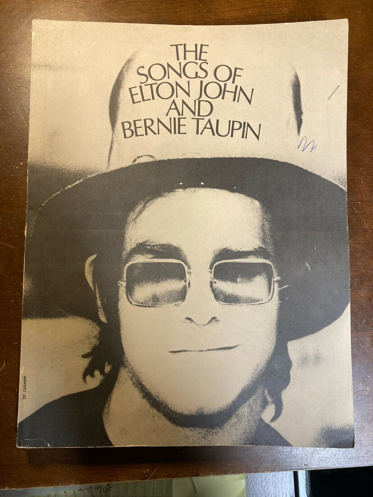 The Songs Of Elton John And Bernie Taupin Book 1971 Sheet Music - $18.00