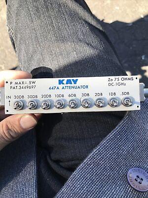 Kay Elemetrics Corp Attenuator 447a 75 Ohms .5w Dc-1ghz