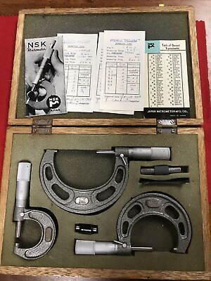 Nsk Micrometer Set. 0.00001 Graduation.