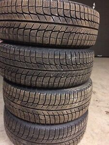 4 winter Michelin 205/55/16 on rims