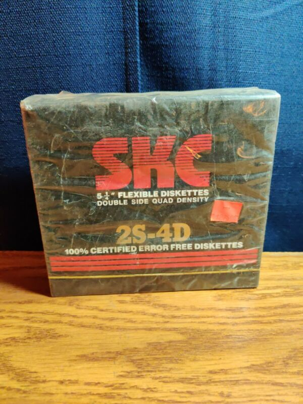 "10 VTG SKC 5 1/4"" 5.25"" Flexible Disk Diskette Floppy 2S-2D Sealed NIB NOS NEW"