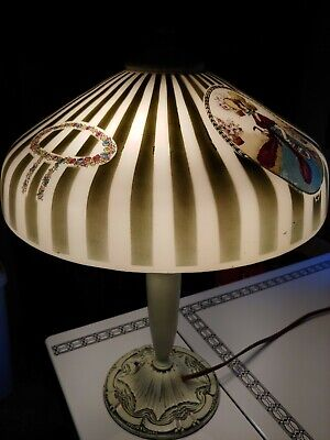 Antique Pittsburgh Lamp Obverse Painted ,victorian, rare shade 16 -