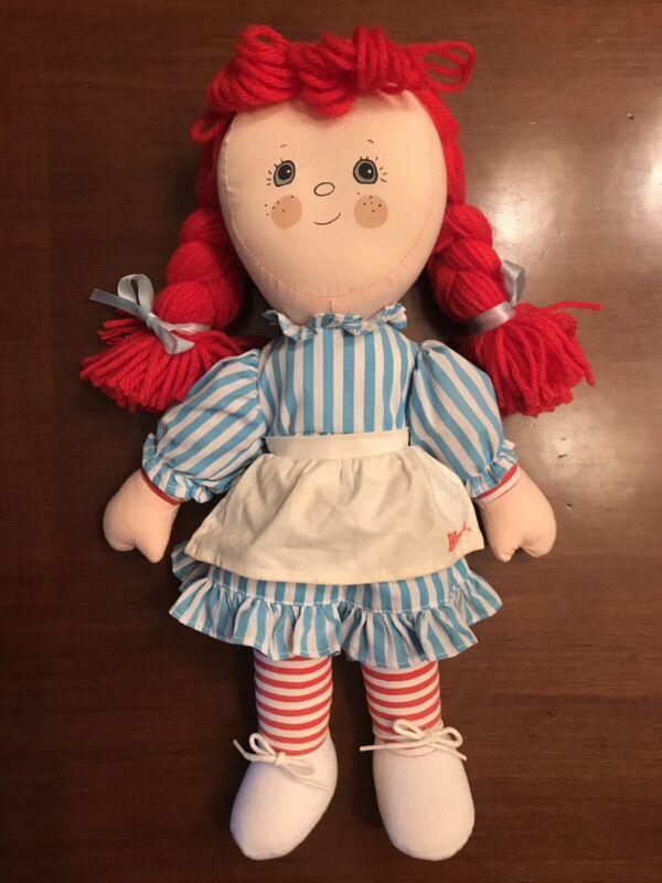 Vintage 1985 Wendy's Restaurant Wendy Plush Doll