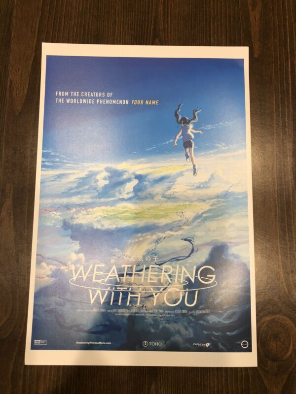 Weathering With You / Tenki no Ko Movie USA Theatrical Release Promo Poster RARE