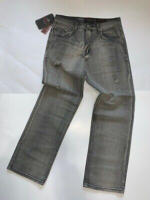 mens jeans 34x32 classic straight fit bit distorted in front, nice faded.