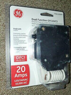 GE THQL1120DFP Single-Pole Dual Function Arc Fault/Gfci Breaker, 20 Amp