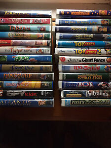 Lot of VHS movies. Mostly Disney. 24/$15.00
