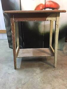 """Antique Federation Pine Side Occasional Lamp """"Distressed"""" Table Thornleigh Hornsby Area Preview"""