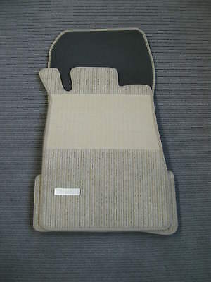 $$$ Rips Fußmatten für Mercedes Benz CLK W208 A208 + kiesel beige + Emblem + NEU