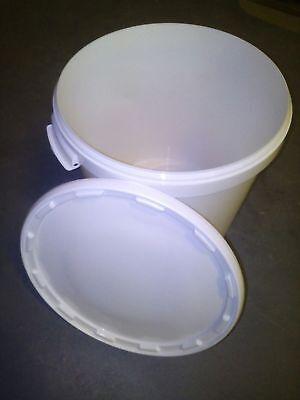3 Stück 30 L Liter Eimer leer Leereimer Hobbock Kunststoffeimer mit Deckel