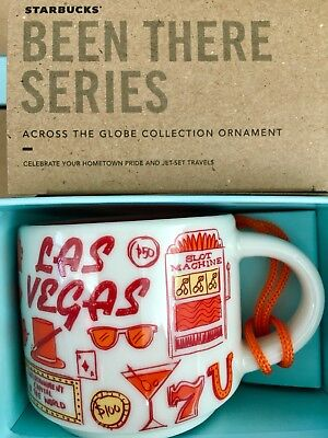 Starbucks 2oz Demi Tasse LAS VEGAS, Nevada BEEN THERE mini mug Ornament Cup NIB