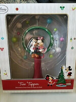 Disney Store Christmas Tree Topper Mickey Minnie Mouse Retro Look Star RARE