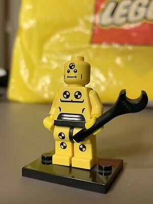 Lego Minifigure Series 1- Crash Test Dummy- Demolition Dummy *RARE*