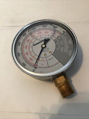 Enerpac Gf10p Hydraulic Pressure Gauge Rc-10ton Cylinders 10000psi 12 Npt