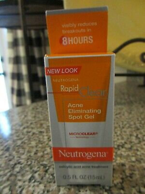 Neutrogena Rapid Clear Acne Eliminating Spot Gel 0.50 oz Exp 7/2020
