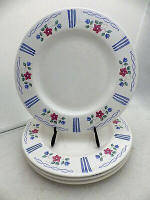 Pfaltzgraff Bonnie Brae pattern - set/lot of 4 Dinner plates - Ret'd 1999 - EUC