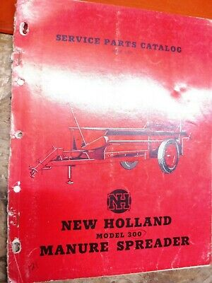 Up To 1955 New Holland Model 300 Manure Spreader Service Parts Catalog