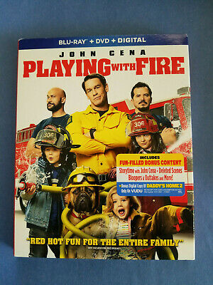 NEW - Playing With Fire (Blu-ray, DVD 2019 + Digital) John Cena -Funny Family