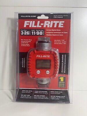 Fill-rite Fr1118a10 In-line Digital Flow Meter Aluminum