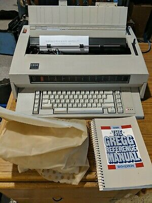 Ibm Wheelwriter 3 Electronic Typewriter With Reference Guide And Dust Cover