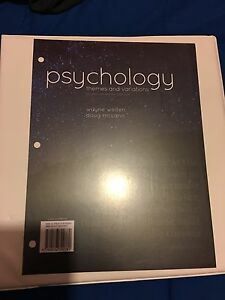Psychology themes and variations 4th editin