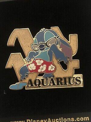 Disney Auctions DA P.I.N.S. Stitch Aquarius Zodiac Pin LE 500  January Astrology
