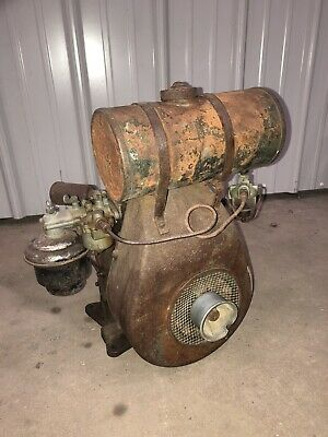 Vintage Clinton Gas Engine 700a Runs Walk Behind Tiller