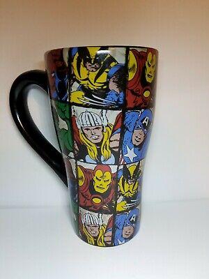 2010 Marvel Comics Heroes, coffee mug-Spider Man,Hulk, Iron Man, Wolverine, Thor