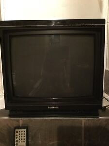 Panasonic Colour television with remote, 23 inches, tube, $30