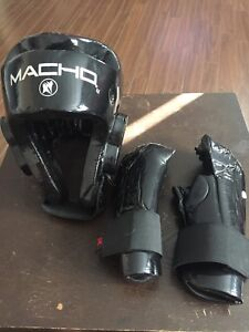 Sparing head gear and gloves
