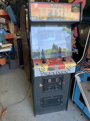 Tetris Video Arcade Machine In Williams Moon Patrol Cabinet