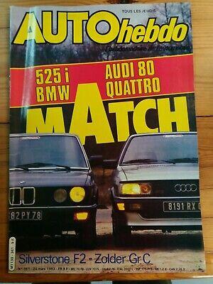 AUTOhebdo - Année 1983 - Lot n°1 de 6 n° - Très bon état