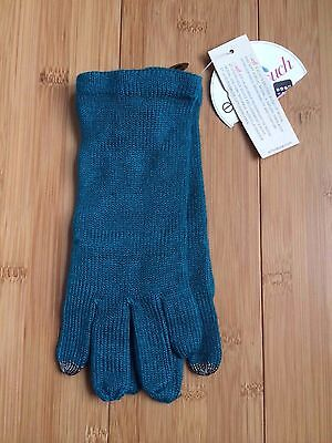 Echo Touch  Msoft Kids Device  Knit Gloves In Teal   One Size   Nwt