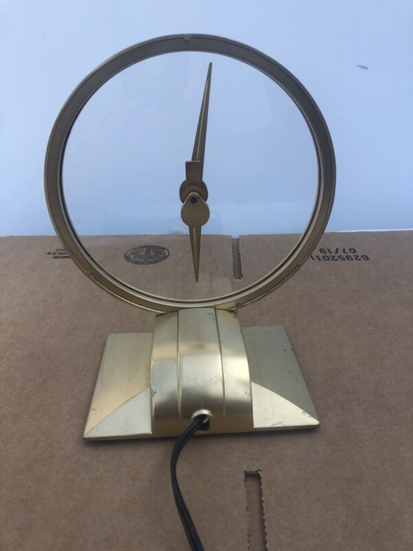 Vintage Mid Century Jefferson Golden Hour Electric Clock, Runs *