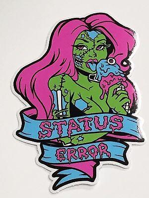 Status Error Ice Cream Zombie Sexy Tattoo Girl Sticker - Drift / Skate / BMX